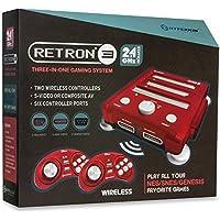 Hyperkin - Consola Retron 3 Rojo + 2 Mandos Wireless (SNES, NES, Genesis)