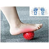 Massage Ball -Scotamalone Foot Therapy Ball Spiky for Deep Tissue Foot, Back, Plantar Fasciitis & All Over Body Deep Tissue Muscle Therapy - Includes Instructions ,Carry Bag