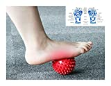 Scott Malone Massage Ball - Spiky for Deep Tissue Foot, Back, Plantar Fasciitis & All Over Body Deep Tissue Muscle Therapy
