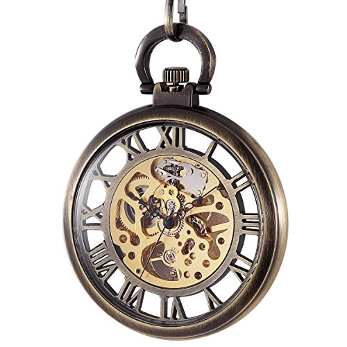 manchda-mechanical-brass-big-wheel-golden-movement-skeleton-pocket-watch-fob-open-face-with-chain-bo
