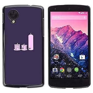 // PHONE CASE GIFT // Duro Estuche protector PC Cáscara Plástico Carcasa Funda Hard Protective Case for LG Nexus 5 D820 D821 / Candle Light Dat E- Funny /