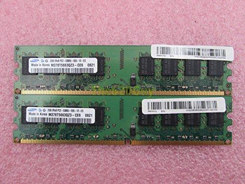Samsung M378T5663QZ3-CE6 4GB 2 x 2GB PC2-5300U DDR...