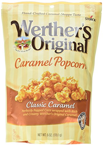WERTHER'S ORIGINAL Caramel Popcorn, Ready  6 Ounce Bag