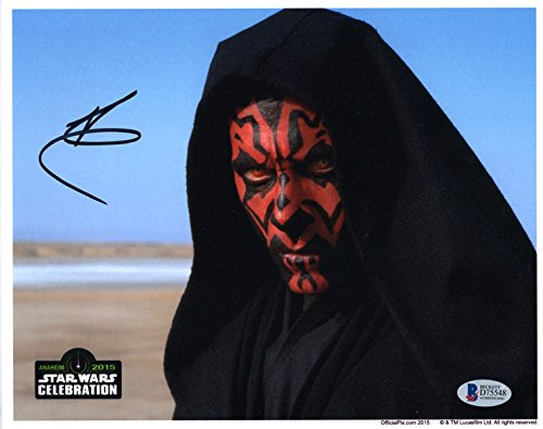RAY PARK SIGNED AUTOGRAPHED 8x10 PHOTO DARTH MAUL STAR WARS OPX BECKETT BAS