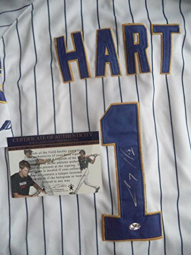 (COREY HART BREWERS SIGNED AUTOGRAPHED MAJESTIC JERSEY 54 W/COA)