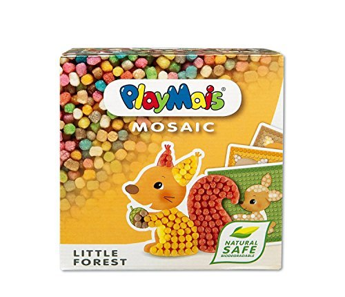 PlayMais MOSAIC Little Forest Animals - A Box Full of Creativity for Kids - Educational Arts and Crafts Toys, Gift for Boys and Girls