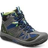 Merrell Capra Mid Waterproof Hiking Boot (Toddler/Little Kid/Big Kid), Grey/Blue, 2 M US Little Kid