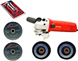 Foster FAG 6-100 (100 mm Wheel Diameter) 4 Inch With 2 Cutting and 2 Grinding Wheel Angle Grinder with FREE and Skil LED Torch