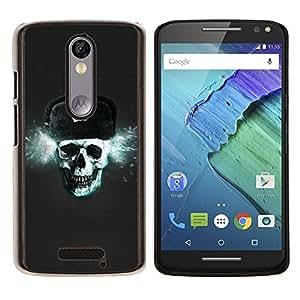 LECELL--Funda protectora / Cubierta / Piel For Motorola MOTO X3 3rd -- Cráneo de Rusia CCCP --