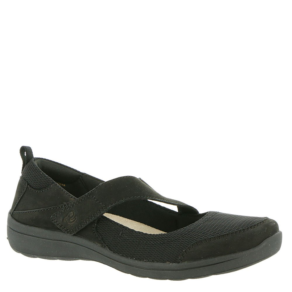 Easy Spirit Women's Luna Mary Jane Flat B07C9RRFQ9 11 W US|Black