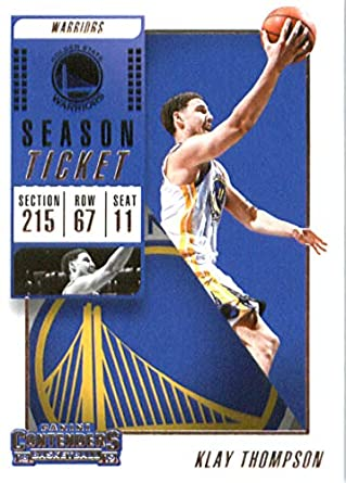 af4e53cd3 2018-19 NBA Contenders Season Ticket  96 Klay Thompson Golden State Warriors  Official Basketball