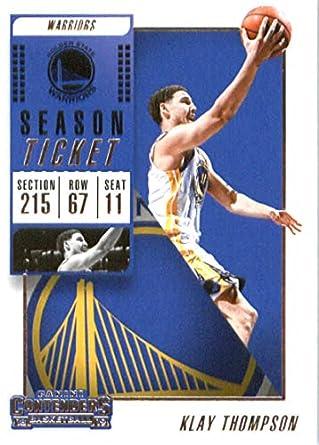 14338a3a2a7 2018-19 NBA Contenders Season Ticket  96 Klay Thompson Golden State Warriors  Official Basketball