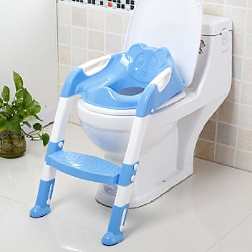 8 opinioni per Portable and Durable Children Potty Seat With Ladder Kids Toilet Folding Potty