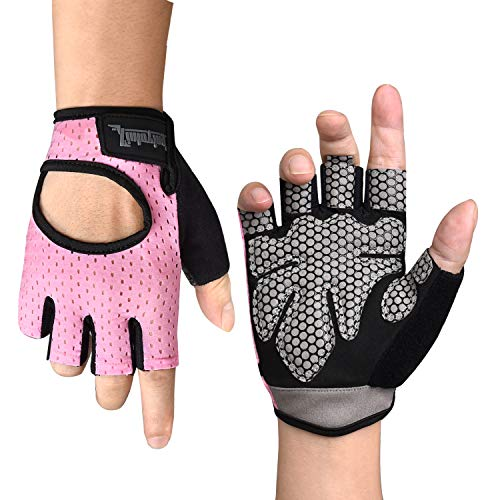 Citoor Cycling Gloves Women Men Breathable Workout Gym Training Weight Lifting Bike Gloves Shockproof Padded (Best Autumn Cycling Gloves)