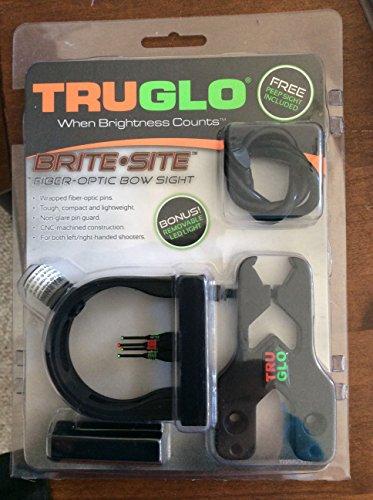 TruGlo Brite Site 4-Pin Archery Sight with Light and Bonus Peep Sight, Black ()