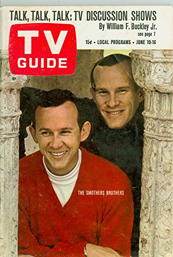 1967 TV Guide Jun 10 Smothers Brothers - Colorado Edition Very Good (3 out of 10) Well Used by Mickeys Pubs