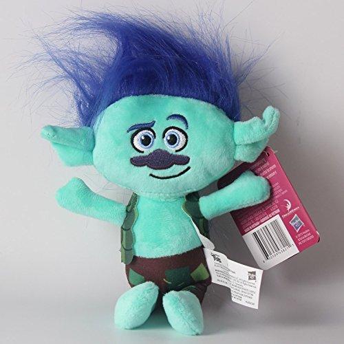 gg 2Pcs Movie Trolls Poppy & Branch Hug 'N Plush Doll Toy Set Gift 9'' 23CM (White Saltwater Series Bow Great)