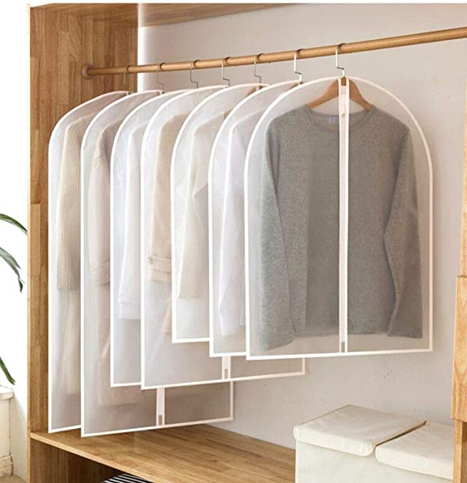 Garment Bag Clear Plastic Breathable Moth Proof Garment Bags Cover for Clothe...