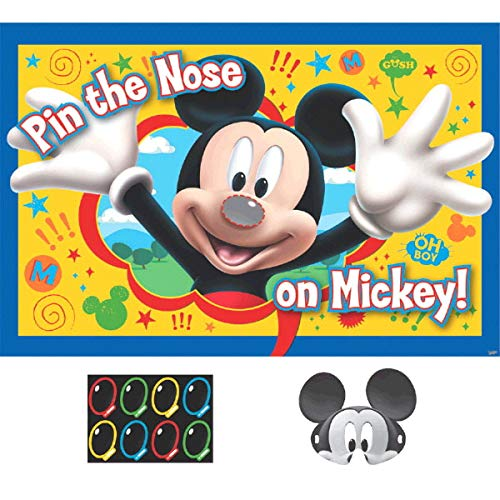Amscan Disney Mickey Mouse Pin The Nose on Mickey Party Game, Party Favor, 6 Ct. -