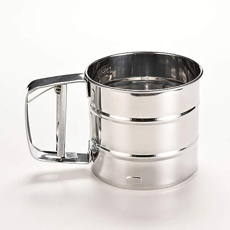 Amazon.com: Regalo de harina de acero inoxidable con 3 tazas ...