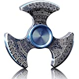 MAYBO SPORTS Wiitin Metal Fidget Spinner Toy, Exclusive Tri Hand Spinner Low Noise High Speed Ultra Stable Focus Toy - Maya Totem