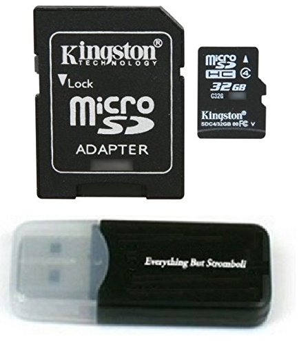 Kingston Micro SD MicroSD TF Flash Memory Card 32GB 32G Class 4 works with ABLEGRID GS8000L Night Vision HD 1080P Dashcam Camera w/ Everything But Stromboli Memory Card ()