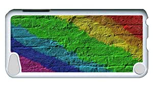 Rugged iPod Touch 5 Case, Rainbow Wall Polycarbonate Plastic Case for iPod Touch 5 /iPod 5/ iPod 5th Generation PC White