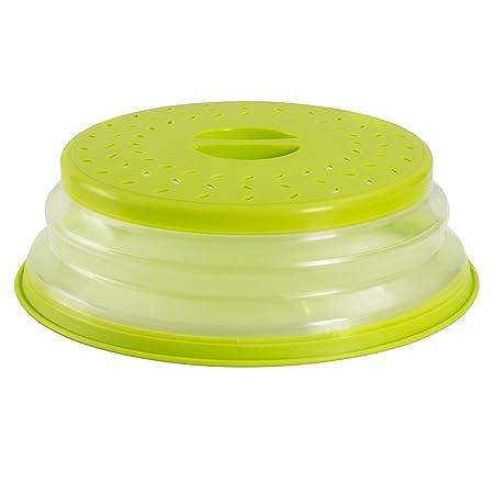 OUCHAN Colador plegable para platos de microondas, colador para frutas y verduras, sin BPA y no tóxico