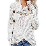 Makeupstore Women's Tops & Tees Womens Tops Plus Size Women Long Sleeve Solid Sweatshirt Pullover Tops Blouse Shirt (White, XL)