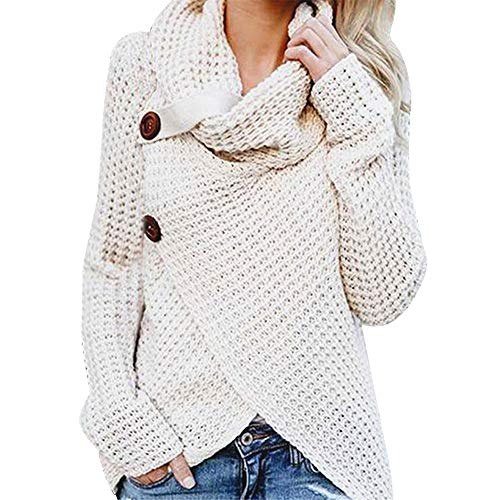 TOPUNDER Long Sleeve Solid Pullover Sweatshirt Tops Blouse Shirt Women ()