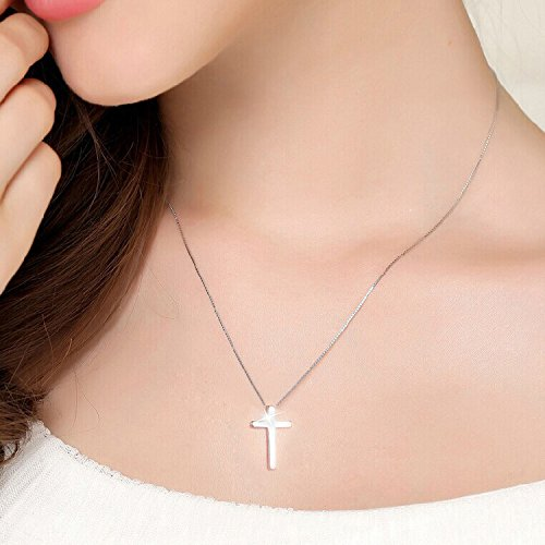 Women Gift Smooth Cross Necklace Pendant s925 Silver Pendants Christian Cross Men Women May Lettering