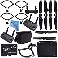 DJI Prop Guard for Spark Quadcopter CP.PT.000787 + DJI Shoulder Bag for Spark CP.QT.001151 + DJI 4730S Quick Release Folding Propellers Spark Drone + DJI Remote Controller for Spark Quadcopter Bundle