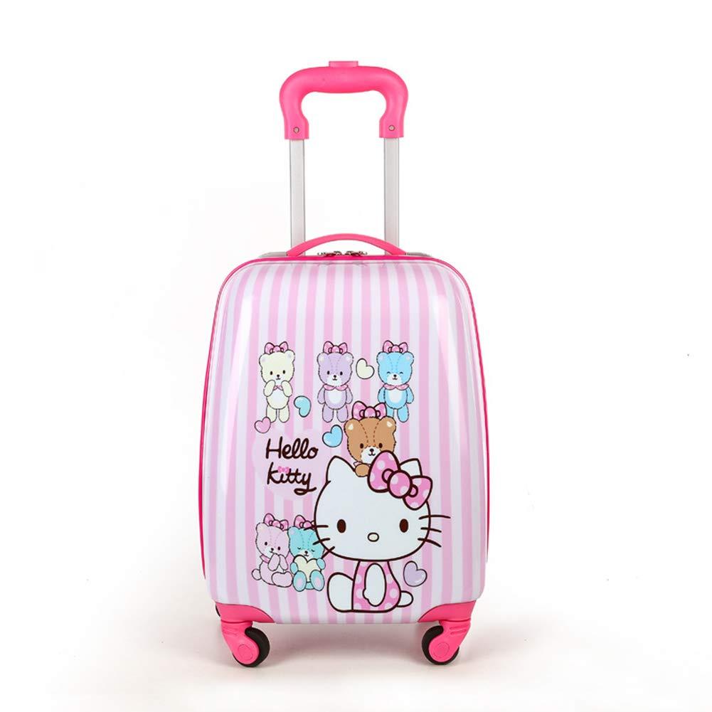 LYFLY Kinder Trolley Schultasche Cartoon Reise Koffer Kind Studenten 16-Zoll-M/änner und Frauen Baby