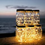 Mason Jar 瓶型LEDライト ソーラーライト 太陽光エネルギー ボトルを含む、 ハンドル