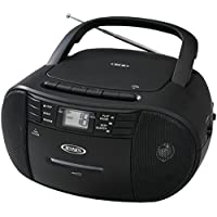 JENSEN JENCD545, Portable Stereo CD Player with Cassette Recorder and AM/FM Radio