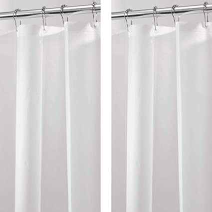 Merveilleux MDesign   2 Pack   Long Waterproof, Mold/Mildew Resistant, Heavy Duty PEVA Shower  Curtain Liner For Bathroom Shower And Tub   No Odor, Chlorine Free   3 ...