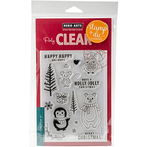 Animals Die - Hero Arts Holiday Animals Unmounted Clear Stamp & Die Combo Set (SB131)