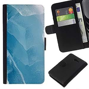 All Phone Most Case / Oferta Especial Cáscara Funda de cuero Monedero Cubierta de proteccion Caso / Wallet Case for Sony Xperia M2 // Ice Winter Lake White