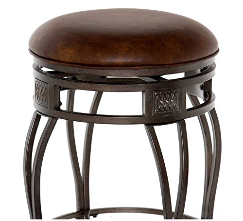 Swivel bar stool, Pewter and bronze overtone Old Steel finish, Old Steel