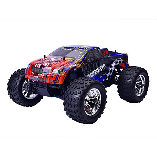 Remote Control Car, VANDER Rolytoy 4WD 1:10 Scale High Speed 48km/h All Terrain RC Cars, Nitro Gas Power Off Road Monster Truck,2.4Ghz Radio Control Buggy Crawler