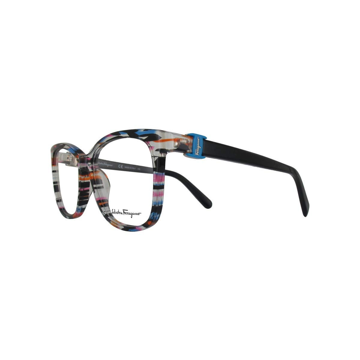 73867c792c Amazon.com  Eyeglasses FERRAGAMO SF2760 996 GEOMETRIC FUCHSIA AZURE   Clothing