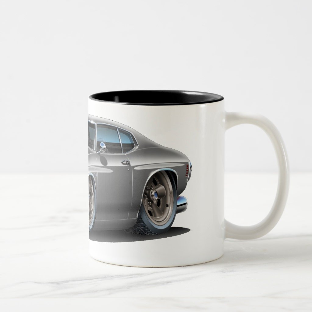 Zazzle 1971 – 72 Chevelle grey-black車コーヒーマグ 11 oz, Two-Tone Mug ブラック f044d2a1-c1c3-064a-7beb-fe6e468d07a1 B078GZLMD9  ブラック 11 oz, Two-Tone Mug