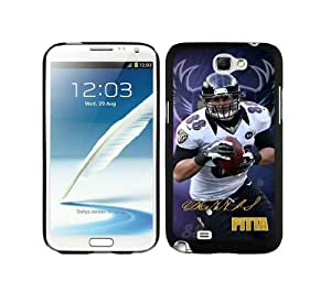 WOWCASE Baltimore Ravens Dennis Pitta NFL Rugged Case for Samsung Galaxy Note 2 Sport Fans Samsung Note 2 case-Christmas Gift