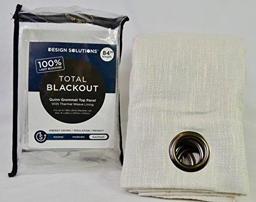 Quinn 84-Inch Grommet Top 100% Blackout Window Curtain Panel