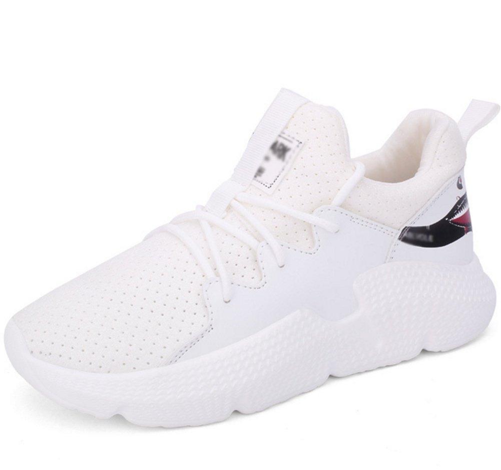 XIE Zapatillas de Vuelo Zapatos de Mujer Fondo Plano Zapatos de Malla Casuales Zapatillas de Running 35-39, White, 39 39|white