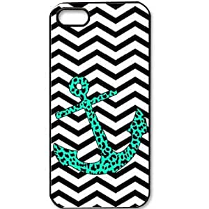 S9Q Chevron Fashion Wave Sailor Anchor Vintage Pattern Hard Back Case Cover For Apple iphone 5C Style B (style11)