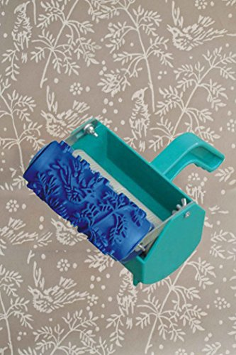 "Bueer 5"" Patterned Paint Roller Decorative Texture Roller With Single Color Painting Machine (Birds and Flowers)"