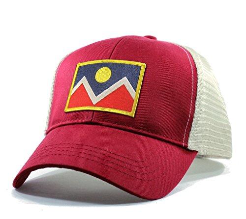 Homeland Tees Men's Denver Flag Patch Trucker Hat - - Creek Cherry Shops Denver