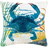 NicholasArt Blue Crab Decorative Square Throw Pillow Case Personalized Cushion Cover Home Decorative Pillow Cover 18x18