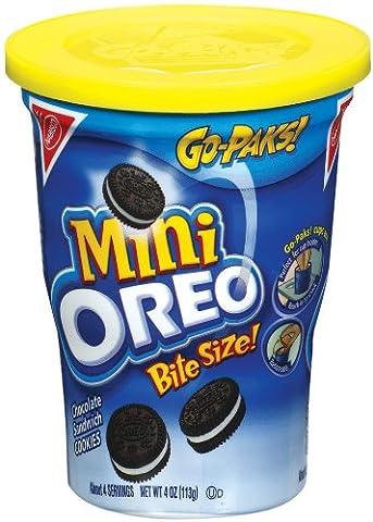 Oreo Mini Chocolate Bite Size Sandwich Cookies, 4-Ounce Go Paks (Pack of 8) (Bite Size Oreos)